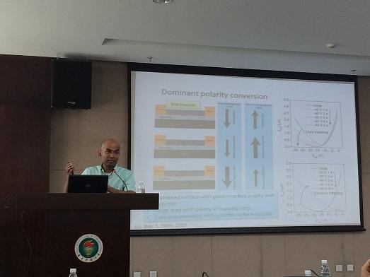 Dr. Roy Velaisamy from the City University of Hong Kong Visit Chemistry Department