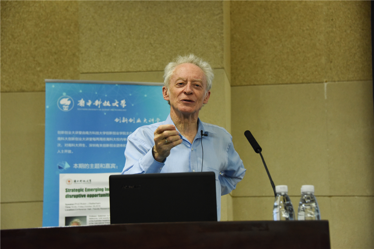 Opportunities for Energy Innovation of China – in View of Prof. Robin J Batterham
