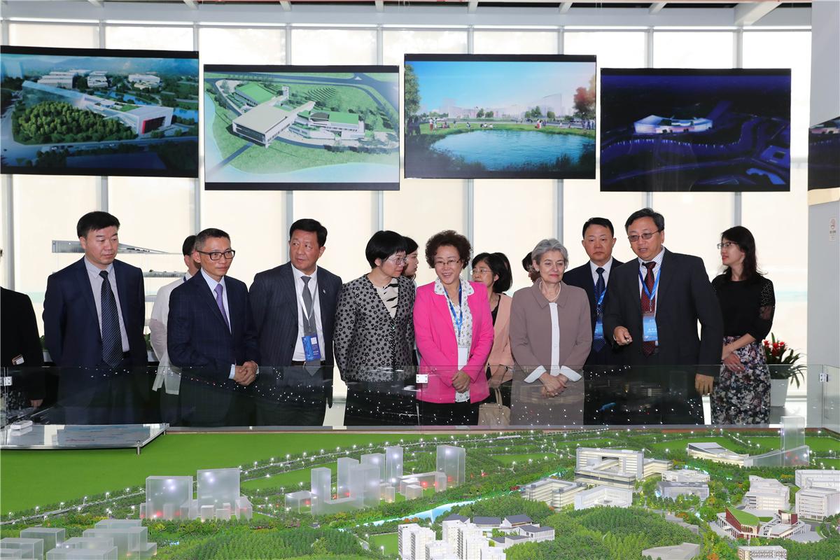 UNESCO Director-General Irina Georgieva Bokova visits ICHEI at SUSTech
