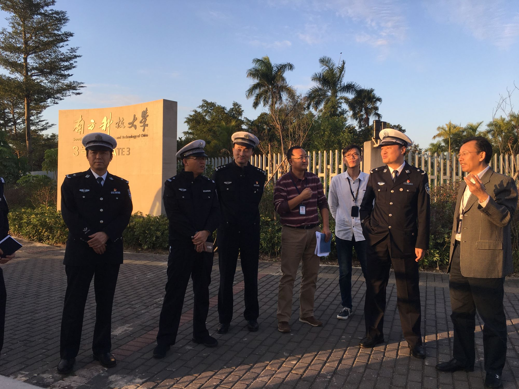 SZTPB Director-General Xu Wei surveys traffic management around SUSTech