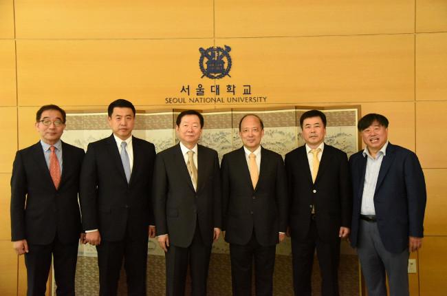 President Chen Shiyi Visits Seoul National University to Establish Exchanges and Cooperation Program
