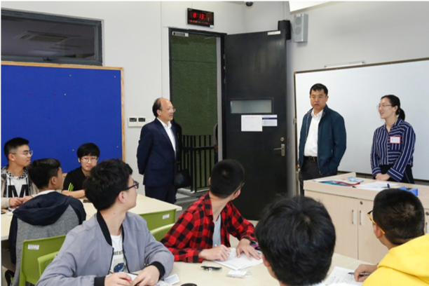 SUSTech leaders went on an inspection tour on the first day of new semester