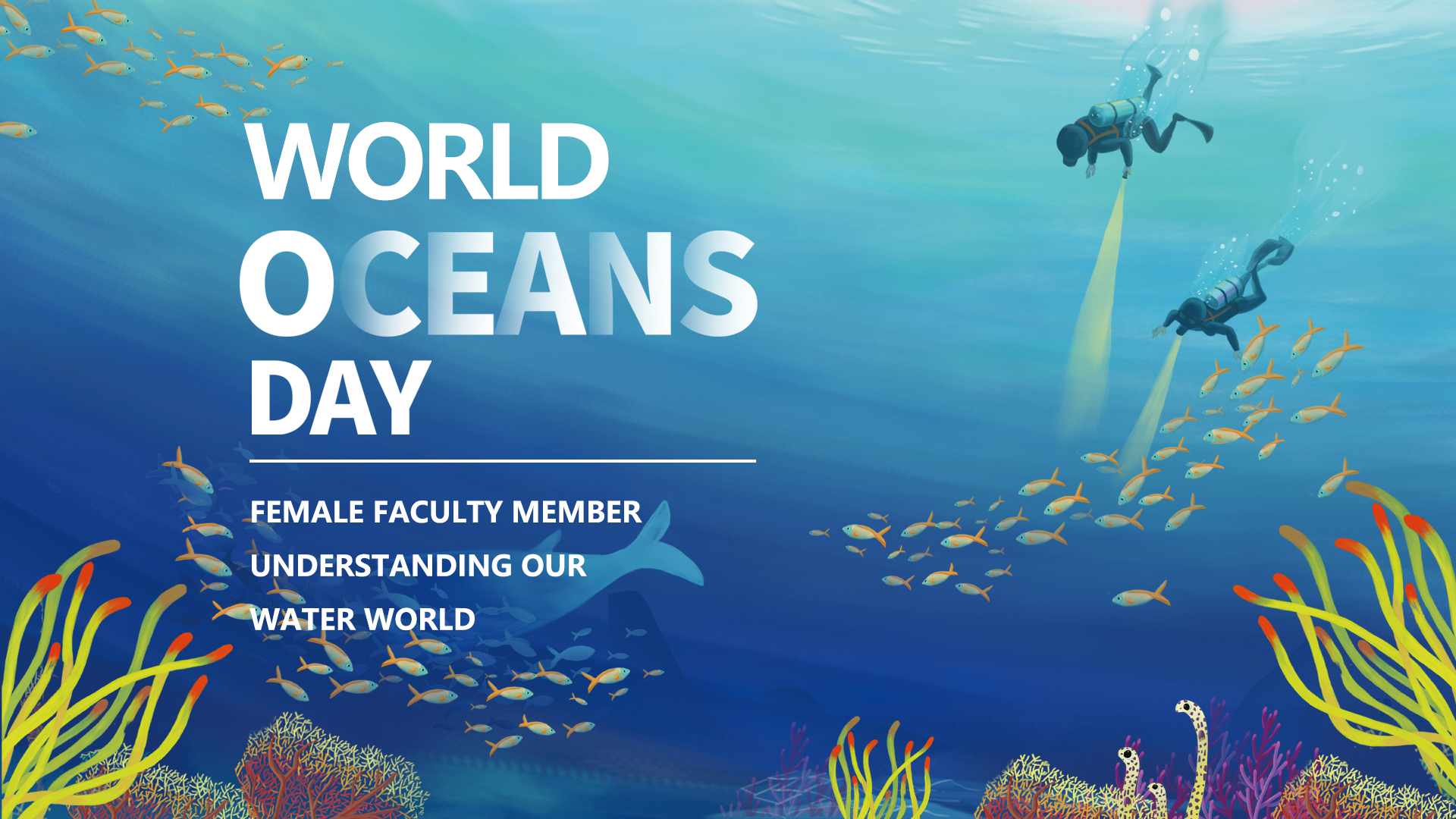 World Oceans Day: female faculty member understanding our water world