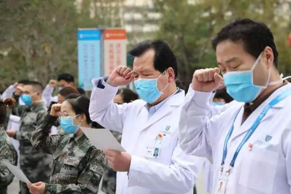 SUSTech Affiliated Hospital staff supporting frontline medical work in Wuhan