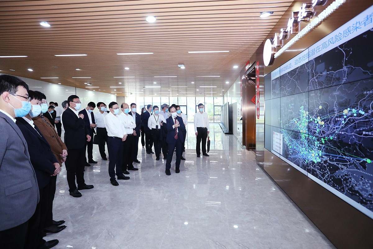 Party Secretary Wang Weizhong & Mayor Chen Rugui inspect COVID-19 scientific research at SUSTech