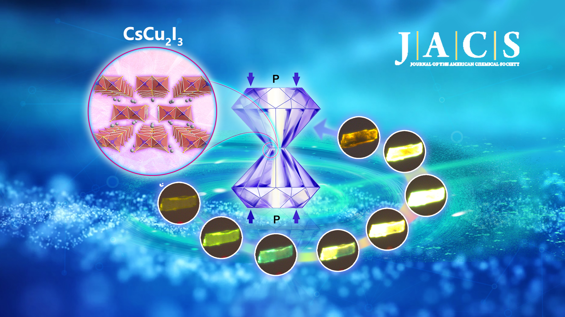 High pressure can produce enhanced light from certain metal compounds