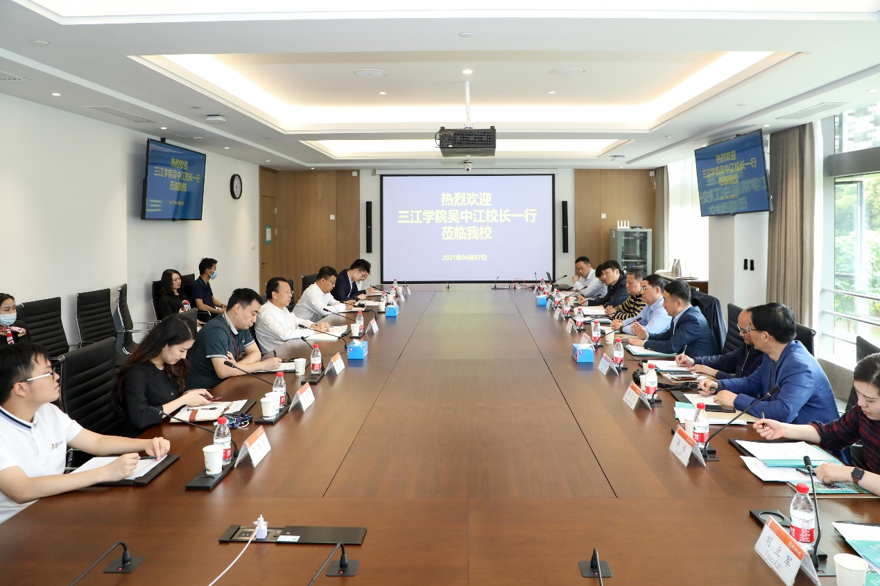 President of Sanjiang University visits SUSTech