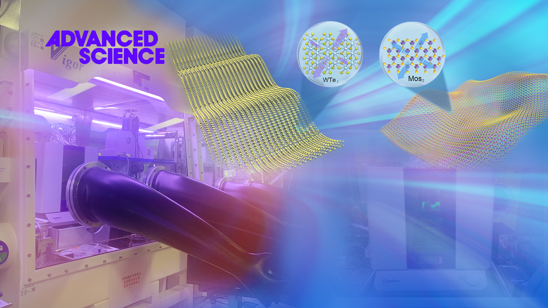 SUSTech Junhao Lin's group publishes research about large-scale lossless lattice characterization of water-oxygen sensitive 2D materials