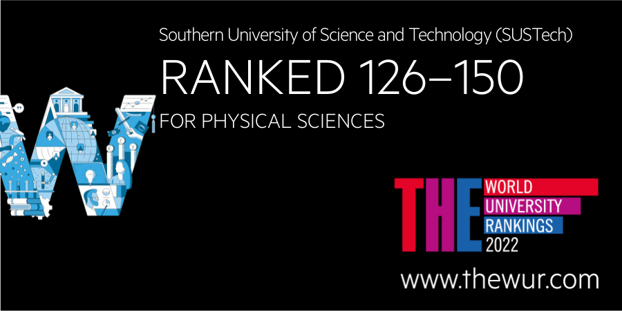 Physical Sciences and Life Sciences ranked among top 150 in THE World University Rankings 2022 by subject